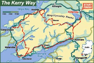 The Kerry Way Map