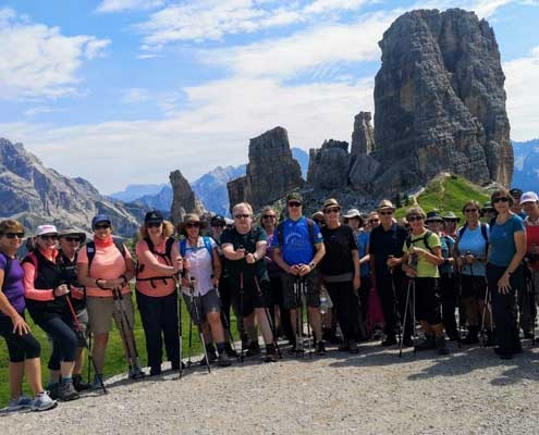 Walking Group in the Dolomites