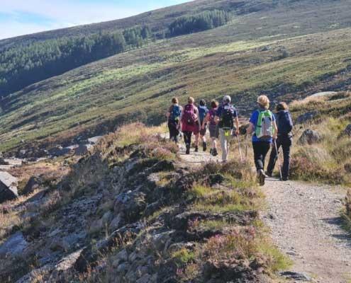 walking in Glendalough